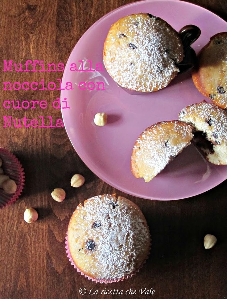 Muffins alla nocciola con cuore di Nutella