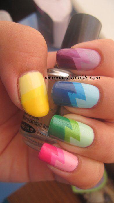 Rainbow Comic Nails
