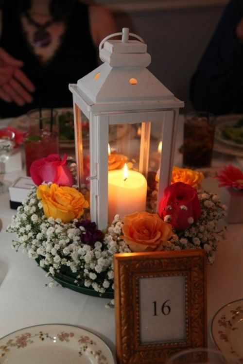 Lantern Wedding Centerpiece - Click image to find more weddings posts