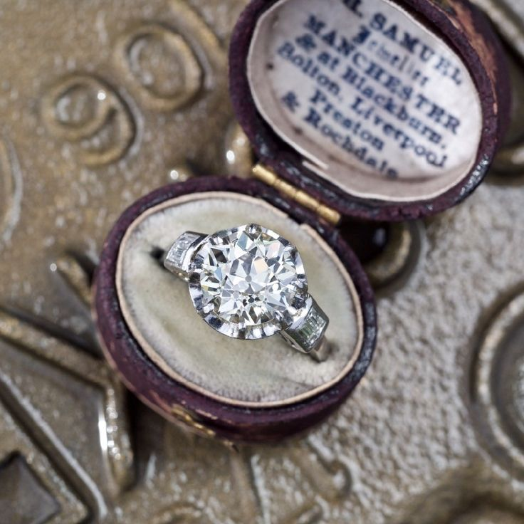 Antique Jewelry Art Deco 4 Carat Old European Cut Diamond Ring