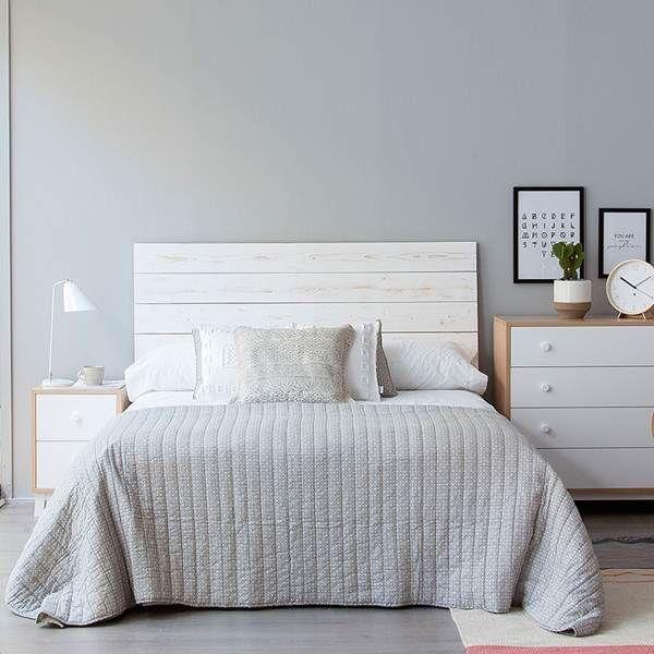 cool cabecero de cama en madera with decorar cabezal cama matrimonio - Cabezales Cama Matrimonio