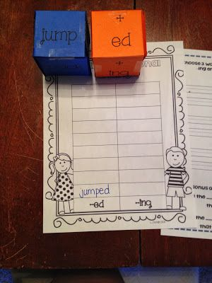 A quick center to practice inflectional endings!
