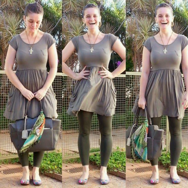 blog v@ LOOKS | por leila diniz: VESTIDO COM MANGUINHA + legging lupo verde + sapat...