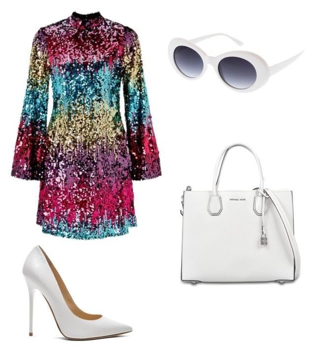 """""""Untitled #16"""" by westboorg-e on Polyvore featuring Miss Selfridge, Jimmy Choo and MICHAEL Michael Kors"""