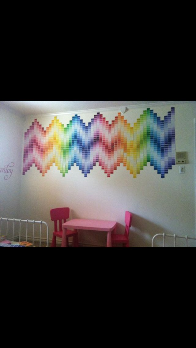 Chevron with paint samples