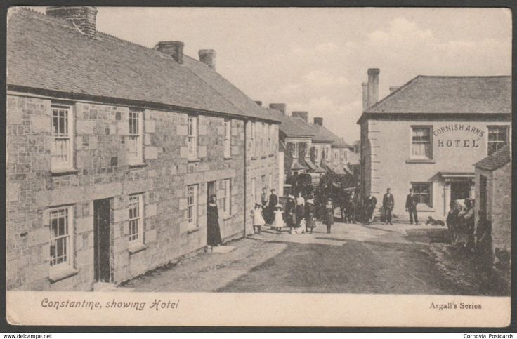 Constantine, Showing Cornish Arms Hotel, Cornwall, c.1905-10 - Argall's Postcard