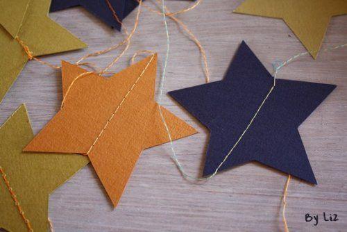 Une guirlande étoilée ! - paper stars - estrellas