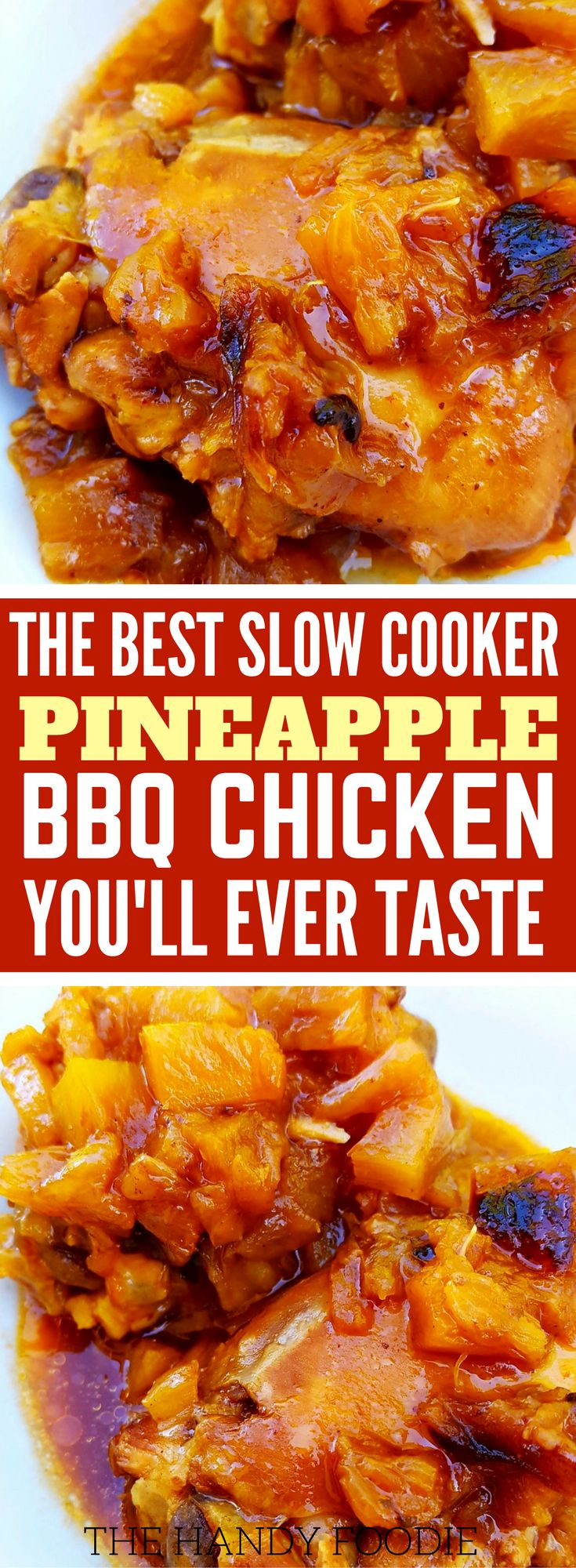 Slow Cooker Pineapple BBQ Chicken
