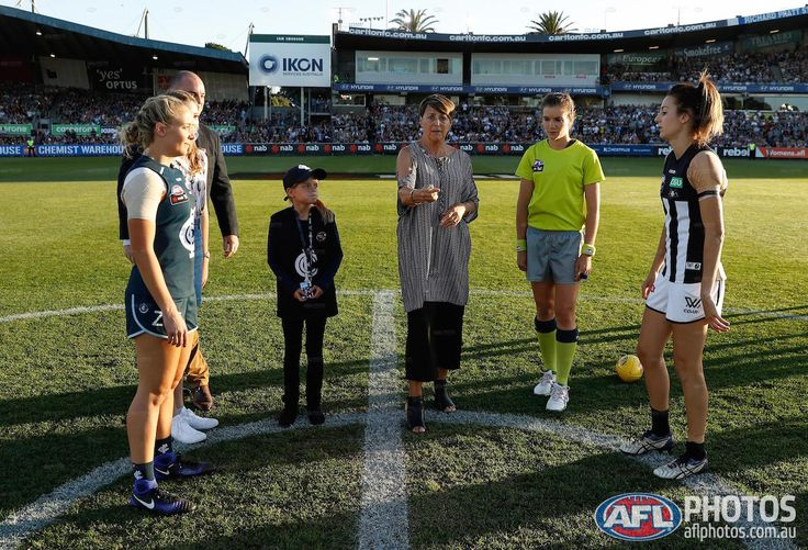 Coin toss at first AFLW game