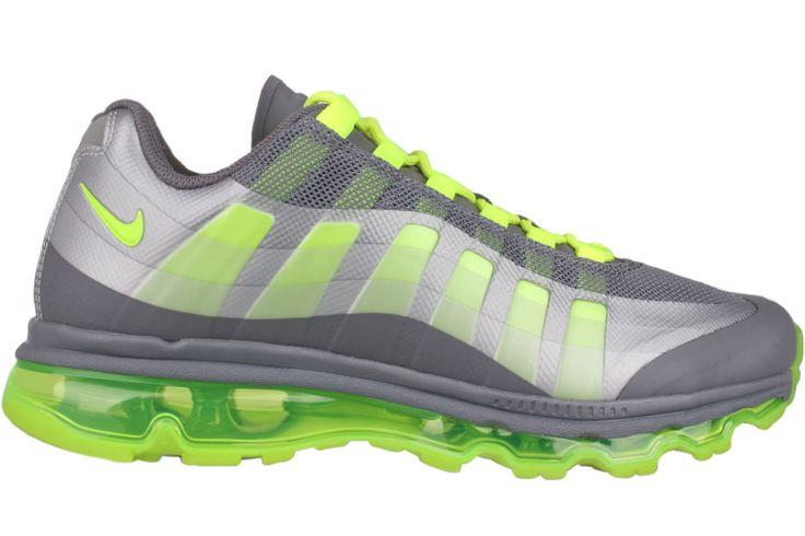 NIKE Air Max 95 (+) BB WTM 511307 060 Dark Grey / Volt-Wolf Grey-Anthracite Check out the Nike Air Max 95+ BB Grey/Volt, which sports two-(or\u2026 | Pinteres\u2026