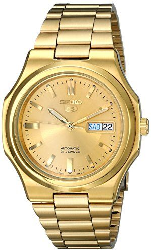 {Quick and Easy Gift Ideas from the USA}  Seiko Men's SNKK52 Seiko 5 Automatic Gold-Tone Stainless-Steel Bracelet Watch http://welikedthis.com/seiko-mens-snkk52-seiko-5-automatic-gold-tone-stainless-steel-bracelet-watch #gifts #giftideas #welikedthisusa