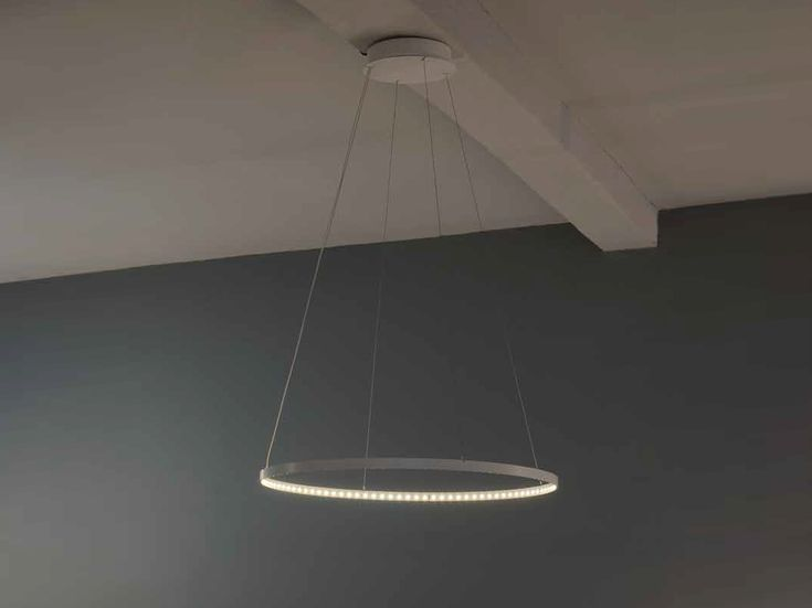 LED direct-indirect light pendant lamp CIRCLE - Le Deun Luminaires
