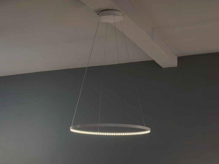 LED direct-indirect light pendant lamp CIRCLE - Le Deun Luminaires