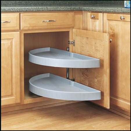 revashelf half moon 2 shelf pivot u0026 pull lazy susan youu0027ll never have to put up with reaching into corner cabinets again once