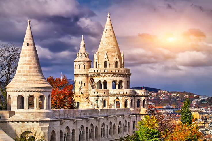 Hungary Fortress Sky Budapest Fishermen's Bastion Cities