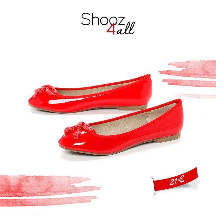 Κόκκινες μπαλαρίνες με δερμάτινο πάτο! http://www.shooz4all.com/el/gynaikeia-papoutsia/mpalarines/kokkines-mpalarines-me-dermatino-pato-br16080-detail #shooz4all #mpalarines #kokkines