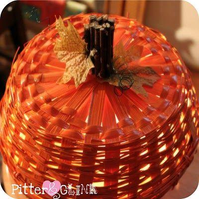 PitterAndGlink: Dollar Store Basket Pumpkin Light