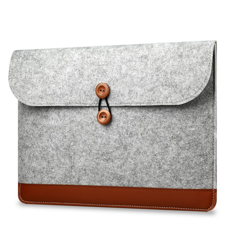 Wool Felt Notebook Laptop Sleeve Bag Case For Macbook Air Pro Retina 13.3 inch A1466 A1278 A1425 Leather Sleeve Case Bag Box