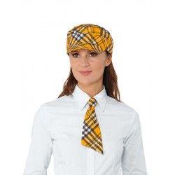 narancssárga kockás nyakkendő