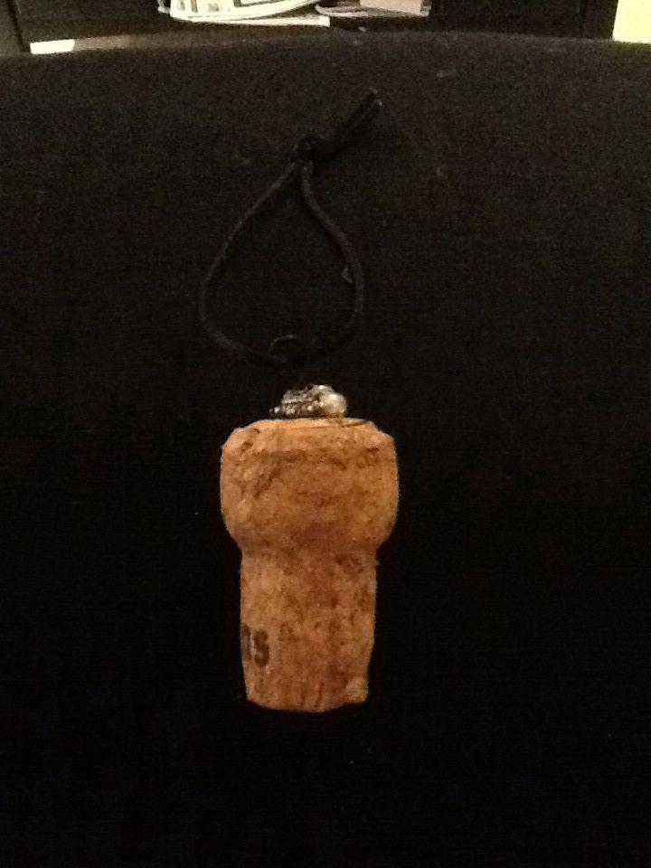 Champagne cork ornaments