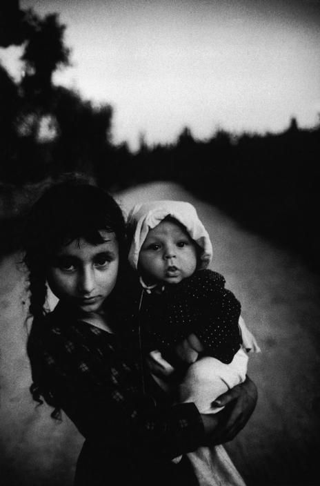 Children at nightfall on a mountain road near Antalya, 1967, photo by Ara Güler (please repin with photographers credits)