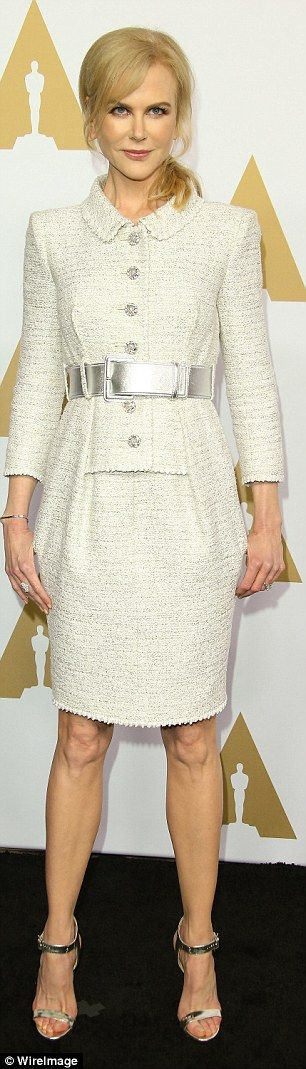 She turns 50 this year, but Nicole Kidman (pictured) showed off calves that defied her yea...