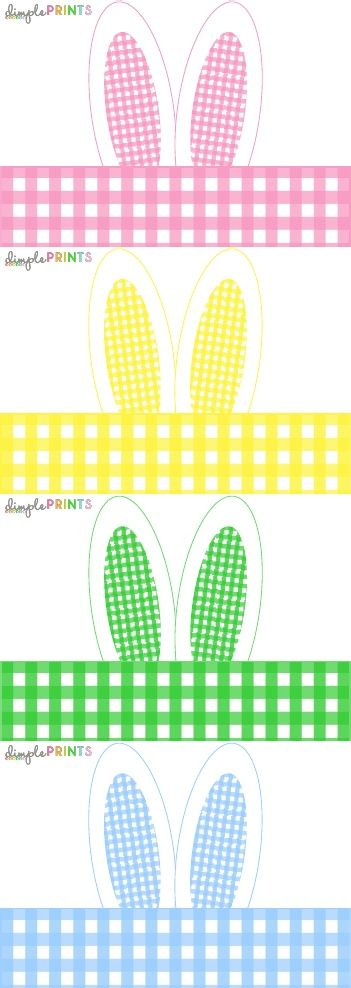 Easter Bunny Ear Napkin Wrap by Dimple Prints