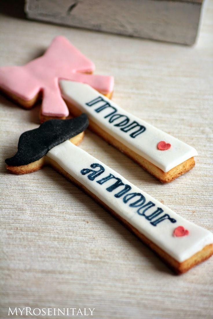 My RoseinItaly: Biscotti per San Valentino parte II- lui e lei
