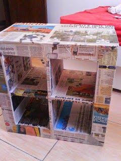 Eu Amo Artesanato: Sapateira ou estante de papelão-  Passo a passo