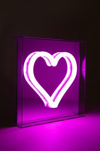 Neon Mirrored Heart LED Light  Valentines Day in 2019