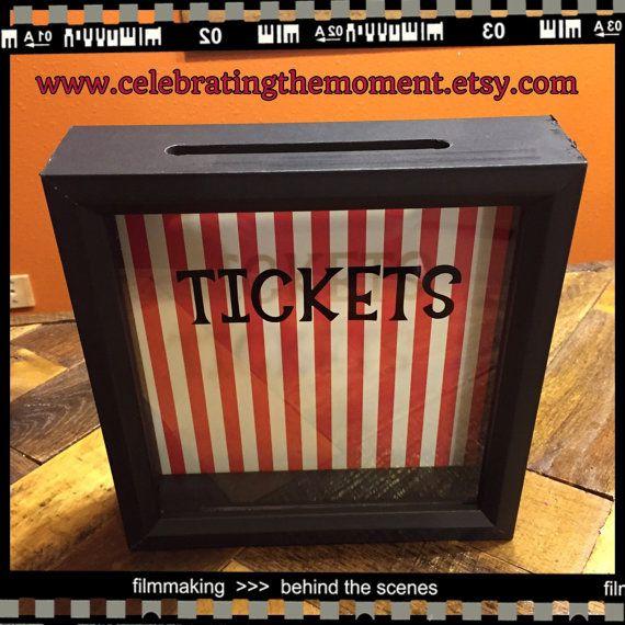 TICKETS Stub box, 8x8 Shadow Box, Ticket Holder Box, Fundraisers, Raffle Tickets, School carnival, auctions, project graduation fundraiser