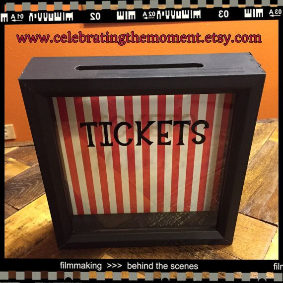 TICKETS Stub box, 8x8 Shadow Box, Ticket Holder Box, Fundraisers, Raffle Tickets, School carnival, auctions, project graduation fundraiser