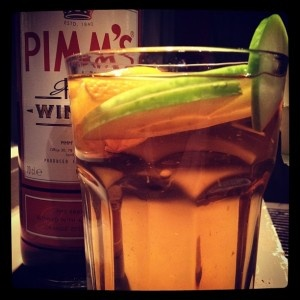 Warm Winter Pimm's - lighter than mulled wine for an Autumn wedding