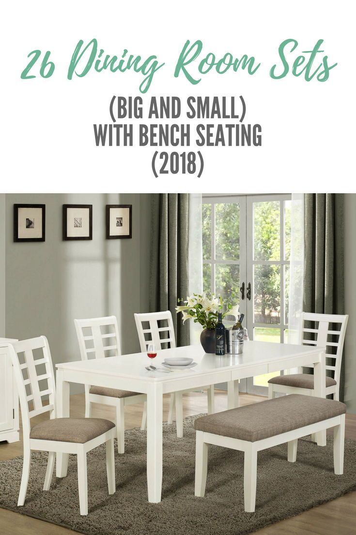 Terrific 26 Dining Room Sets Big And Small With Bench Seating 2019 Alphanode Cool Chair Designs And Ideas Alphanodeonline