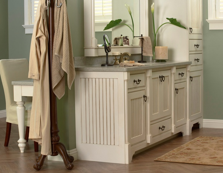 medallion cabinetry platinum inset bath vanity shown in dana point door style in maple oyster vintage