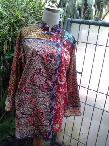 Patchwork batik blouse