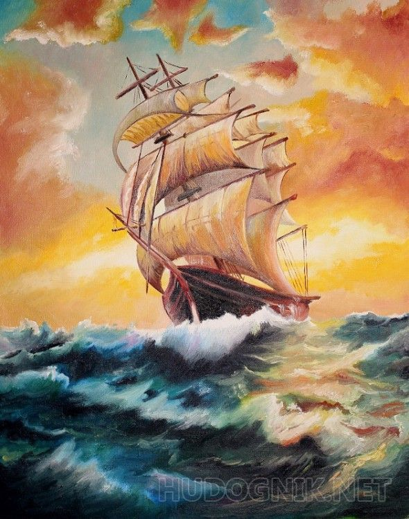 парусник и ветер
