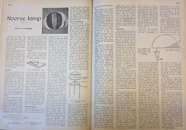 Deze noorse lamp stamt uit 1962. Benieuwd hoe je hem zelf maakt?