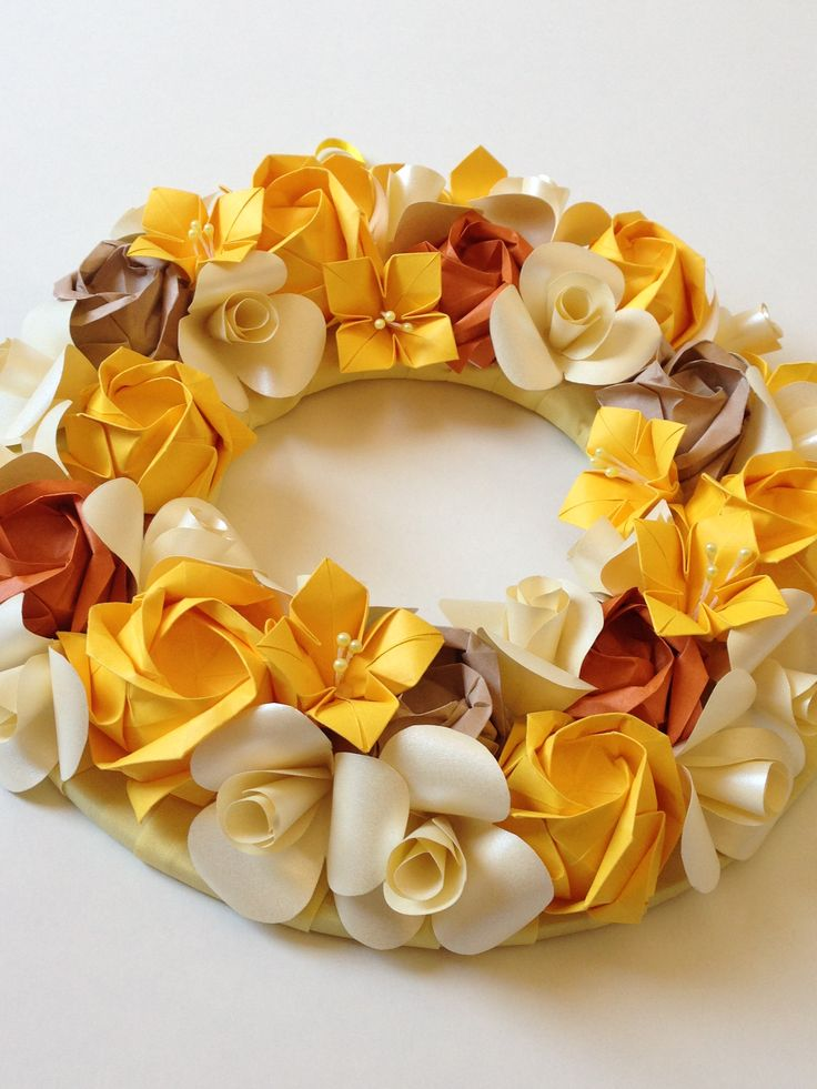 Linda Guirlanda de Outono/ A Beautiful Autumn Garland  Roses Camellia Begônia