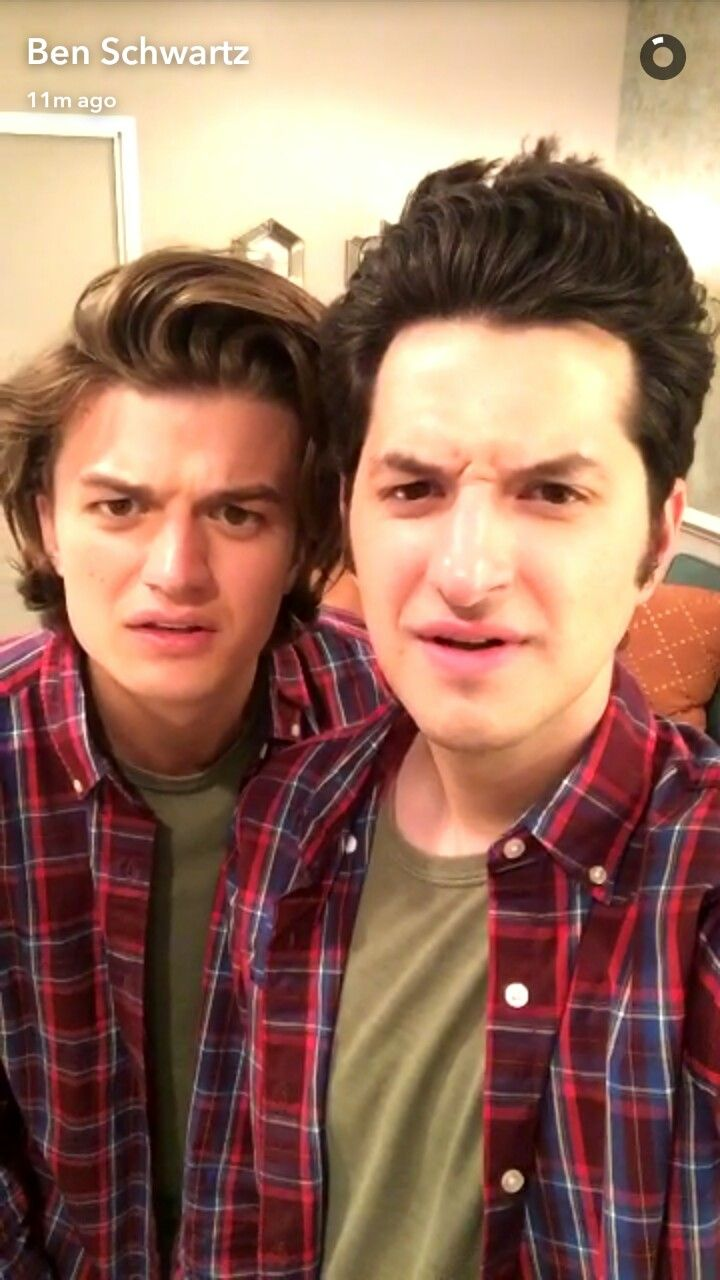 Joe Keery (Steve Harrington) and Ben Schwartz (Jean Ralphio) - Stranger Things and Parks and Recreation