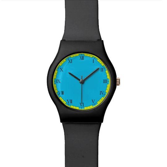 Blue Elegant Watch by www.zazzle.com/htgraphicdesigner* #zazzle #watch #blue #wristwatch #gift #giftidea