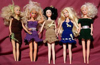 Moje pasje ...: Letnie sukienki dla Barbie