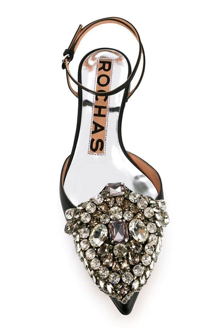 Glam sparkly heels