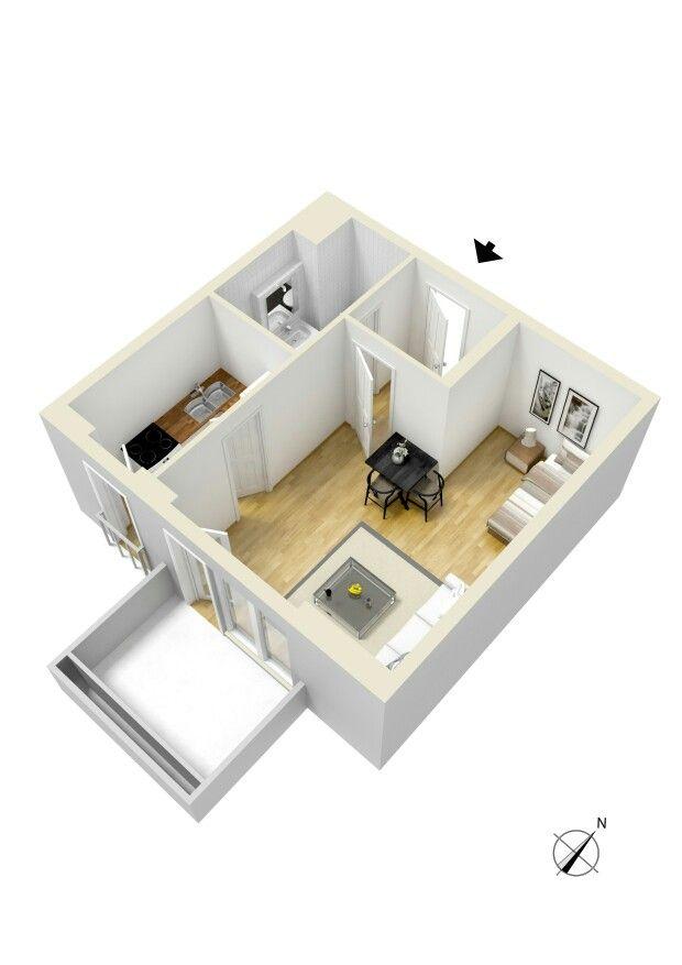 265 besten 1 bedroom apartment floor plan Bilder auf Pinterest ...