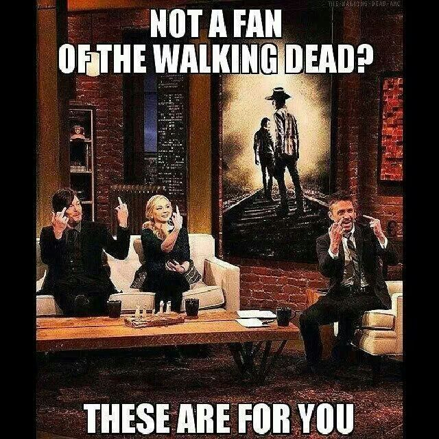 The talking dead with norman and emily.  THANK GOD SHE IS GONE! !!!!! NO MORE SINGING