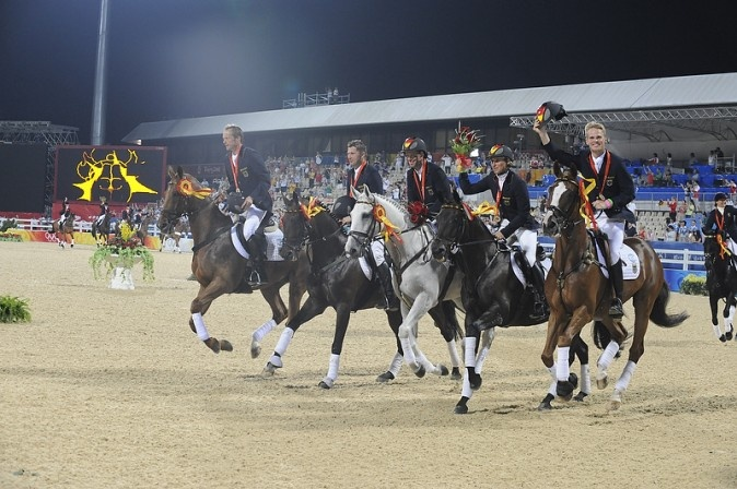 Germany - Equestrian - Beijing Olympics 2008 - Team Eventing ~ Andreas Dibowski,   Ingrid Klimke,   Frank Ostholt,   Hinrich Romeike,   Peter Thomsen