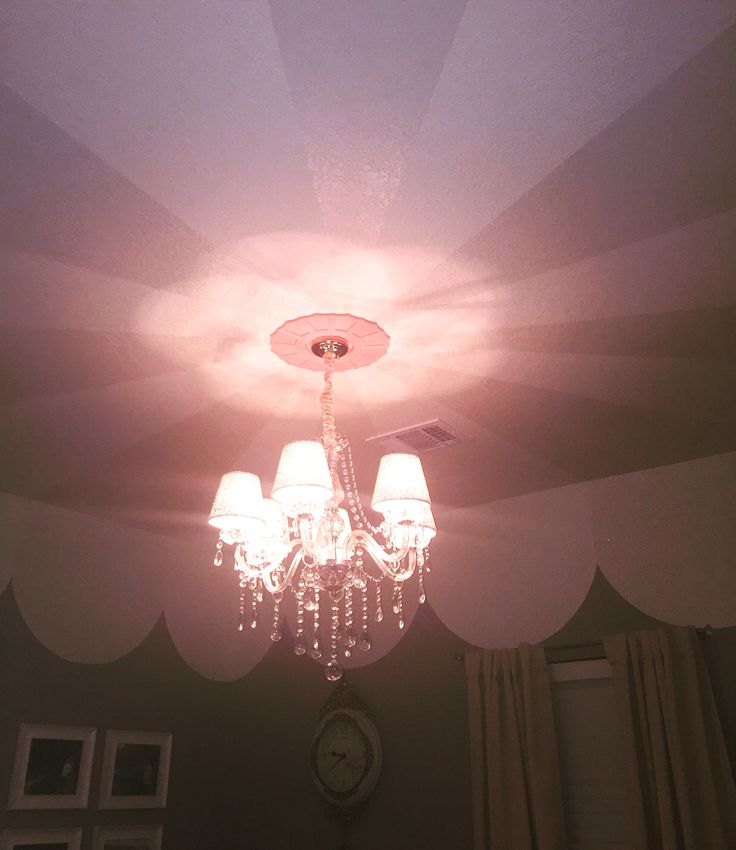 ::: Carousel  Nursery :::  • Painted Tent Ceiling / Mate Cream & High Gloss w/ Glitter Additive from Lowe's Department Store