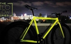 Kilo, la Bicicletta Fluorescente per Pedalare in di Notte - Kilo è una bici con un telaio dipinto con una speciale vernice che dopo aver assorbito un'ora di luce solare diventa fluorescente di notte.