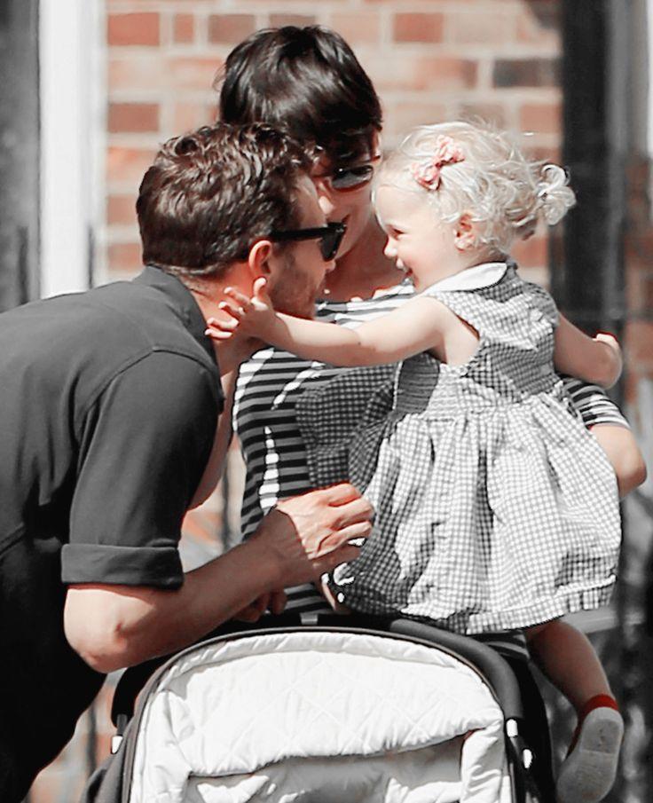 Jamie Dornan with Amelia and Dulcie