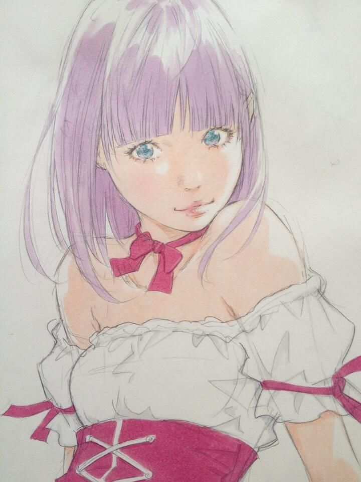 この絵はギャラリー内にコピックを持ち込み、ライブドローイング by Eisakusaku